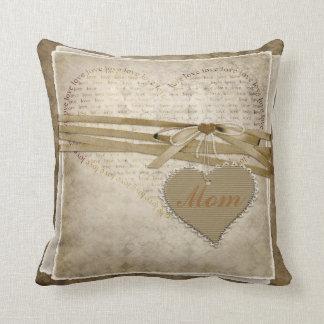 Kudder damastast kärlekpapper för vintage & kudde