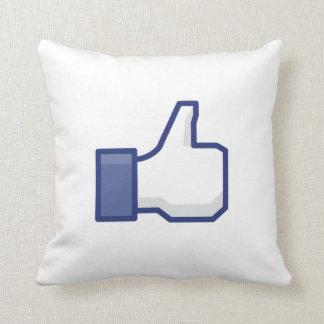 kudder den LIKA tumen för facebook upp dämpar Kudde