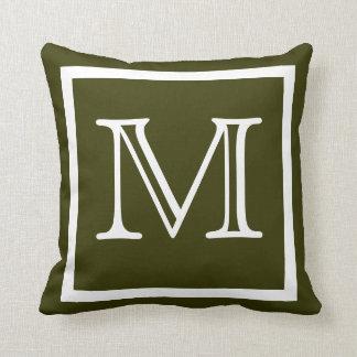 Kudder den oliv grönt fasta mörka armén för kudde