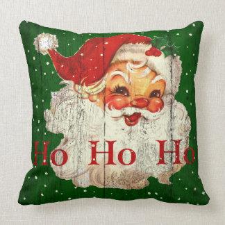 Kudder den Retro Ho Ho Ho jultomten för vintage Kudde