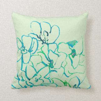 Kudder den tropiska orchiden för ön - blåttgrönt kudde