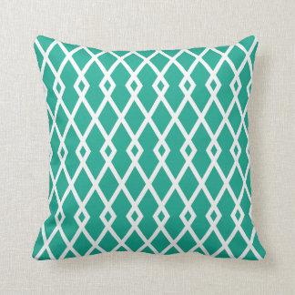 Kudder grön diamantspaljé för smaragden kudde