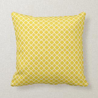 Kudder marockanskt galler för gul vit kudde
