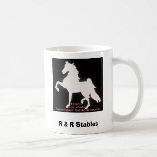 Kugge Equitate på Saddlebreds, R & r-stall Vit Mugg