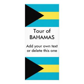 Kuggekort med flagga av Bahamas Reklamkort