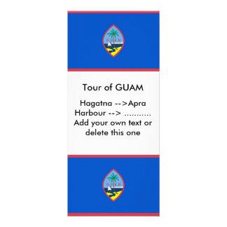 Kuggekort med flagga av Guam, USA Rackkort Med Full Färg