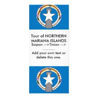 Kuggekort med flagga av nordliga Mariana Anpassningsbara Rackkort