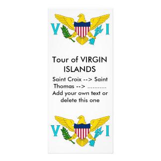 Kuggekort med flagga av Virgin Islands, USA Anpassningsbara Rackkort