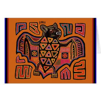 Kuna indisk Molafladdermöss Hälsningskort