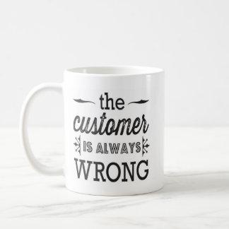 kunden är alltid den fla muggen kaffemugg
