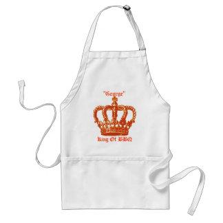 Kung av BBQ-förklädet Förkläde