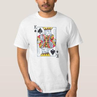 Kung av bedrövade spadar/vintagestil tshirts