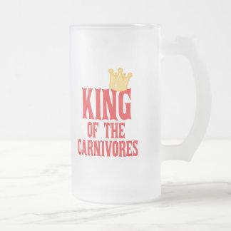 Kung av carnivoresna frostad glas mugg