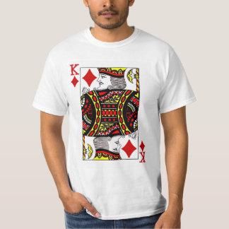 Kung av diamanter som leker kortet tee shirt