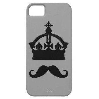 Kung av för färgtelefon för mustascher iPhone 5 Case-Mate fodral