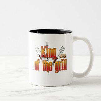 Kung av grilla Två-Tonad mugg
