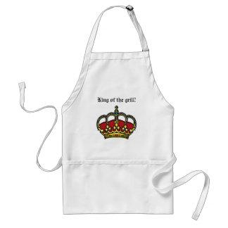 Kung av grillaförklädet förkläde