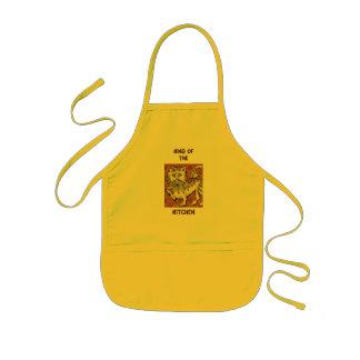 Kung av kök barnförkläde