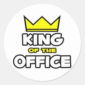Kung av kontoret runt klistermärke