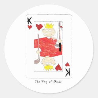 kung av papporkortet runt klistermärke