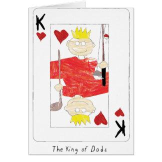 kung av papporkortet hälsningskort