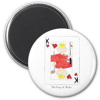 kung av papporkortet magnet rund 5.7 cm
