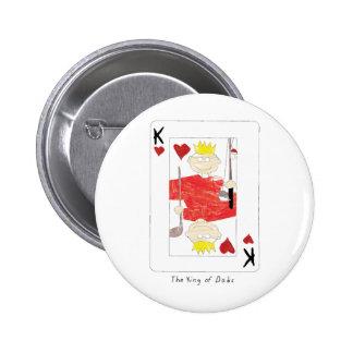 kung av papporkortet standard knapp rund 5.7 cm