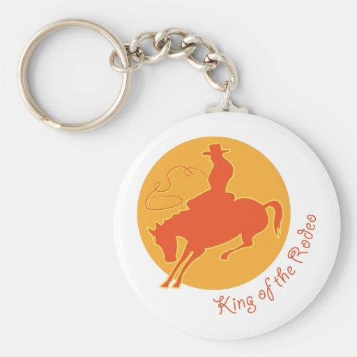 Kung av rodeoen nyckelring