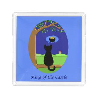 Kung av slottet bricka
