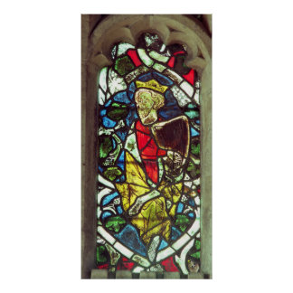 Kung David, 14th århundrade Poster
