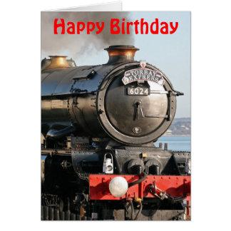 Kung Edward 1 ångamotorgrattis på födelsedagen Hälsningskort