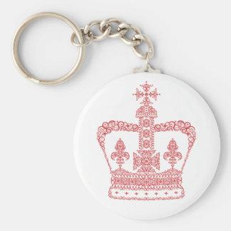 Kung- eller drottningkrona rund nyckelring