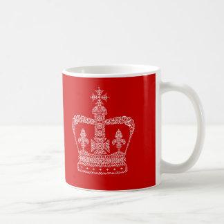 Kung- eller drottningkrona vit mugg