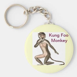 Kung Foo apa Rund Nyckelring
