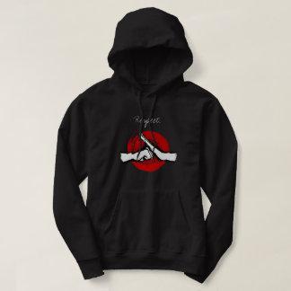 Kung fu - kampsporthonnör sweatshirt med luva