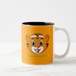 Kung fu Tiger™ två tonar muggen Två-Tonad Mugg