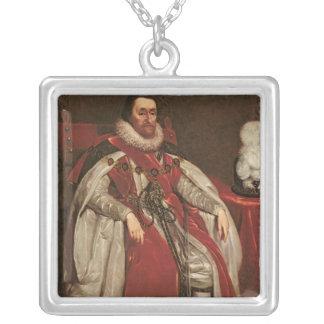 Kung James mig av England och VI av Skottland, 162 Silverpläterat Halsband