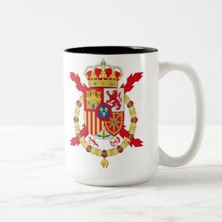 Kung Juan Carlos av Spanien Två-Tonad Mugg