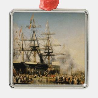 Kung Louis-Philippe som Disembarking på Julgransprydnad Metall