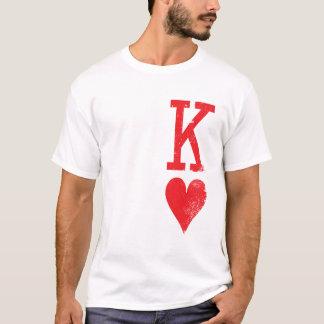 Kung och drottning av hjärtor som leker kortpar tröja