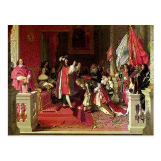 Kung Philip V av Spanien Vykort