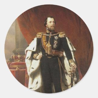 Kung Willem III av Nederländerna - Pieneman Runt Klistermärke