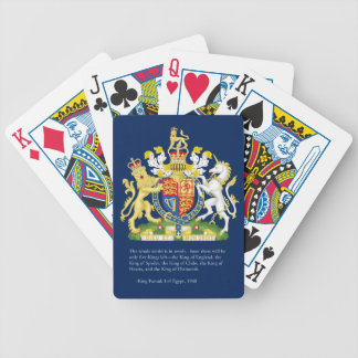 Kungar av däcket för England (Britannien) det Spelkort