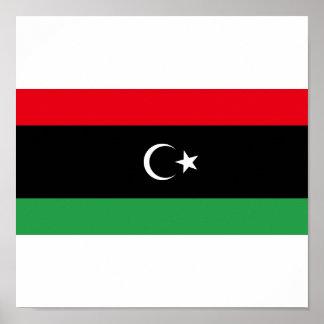Kungarike av den Libyen flagga (1951-1969) Poster