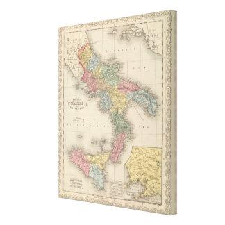 Kungarike av Naples eller tvåna Sicilies Canvastryck