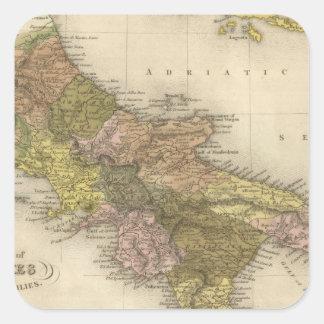 Kungarike av Naples eller tvåna Sicilies Fyrkantigt Klistermärke