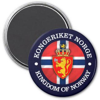 Kungarike av norgen magnet rund 7.6 cm