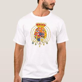 Kungarike av vapenskölden för två Sicilies T-shirts