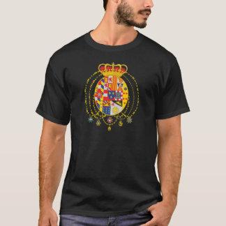 Kungarike av vapenskölden för två Sicilies Tee Shirts