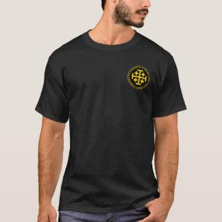 Kungariket av den Jerusalem svarten & guld T-shirts